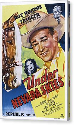 Under Nevada Skies, Us Poster Art Canvas Print by Everett