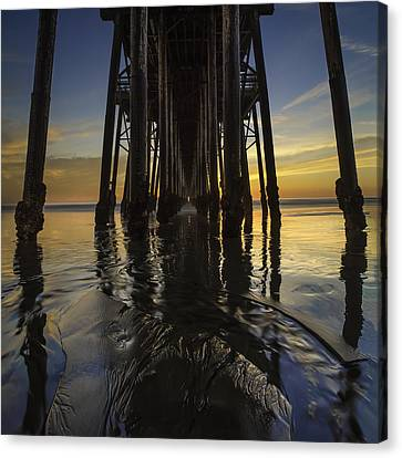 Under The Oceanside Pier 2 Canvas Print by Larry Marshall