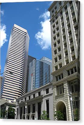 Under Seattle Blue Canvas Print by David Trotter