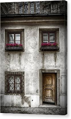 Entrance Door Canvas Print - Under St Stephens by Joan Carroll