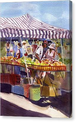 Produce Canvas Print - Under The Awning by Kris Parins