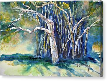 Under The Banyan Tree Canvas Print by Sally Simon