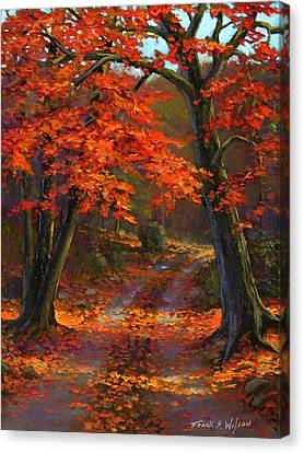 Under The Blazing Canopy Canvas Print by Frank Wilson