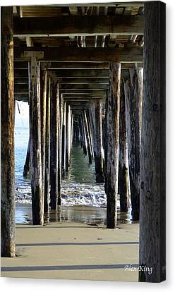 Under The Boardwalk Canvas Print by Alex King