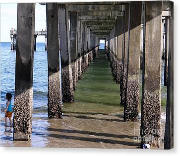 Under The Boardwalk Canvas Print by Ed Weidman