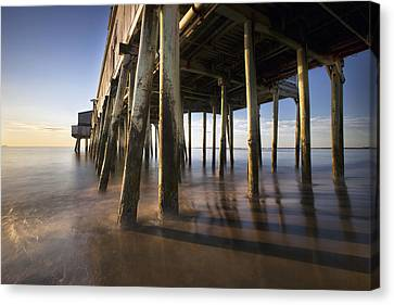 Under The Boardwalk Canvas Print by Eric Gendron