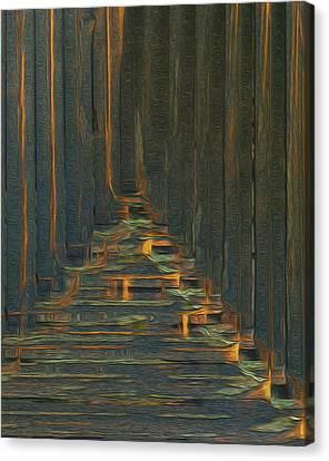 Under The Boardwalk Canvas Print by Jack Zulli