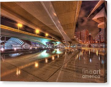 Under The Bridge Canvas Print by Akira Alonso Domenech