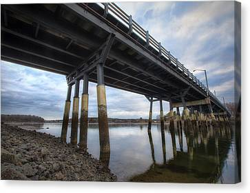 Under The Bridge Canvas Print by Eric Gendron