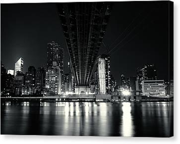 Under The Bridge - New York City Skyline And 59th Street Bridge Canvas Print by Vivienne Gucwa