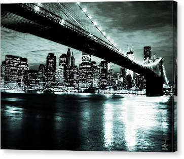 Canvas Print featuring the digital art Under The Bridge by Pennie  McCracken