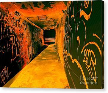 Under The Bridge Canvas Print by Ze DaLuz