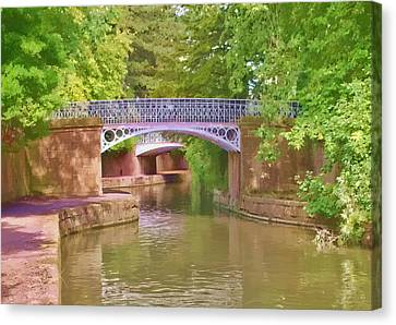 Canvas Print featuring the photograph Under The Bridges by Paul Gulliver