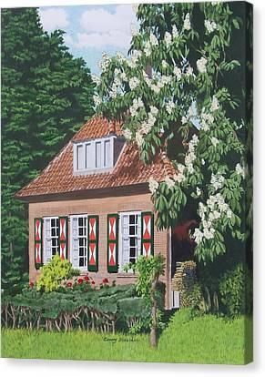 Under The Chestnut Tree Canvas Print by Constance Drescher