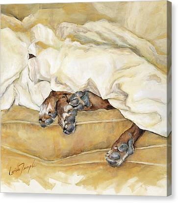Cushion Canvas Print - Under The Covers by Leisa Temple