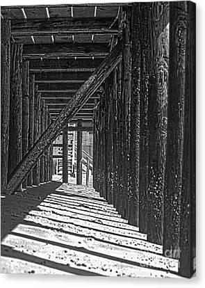 Under The Deck Canvas Print