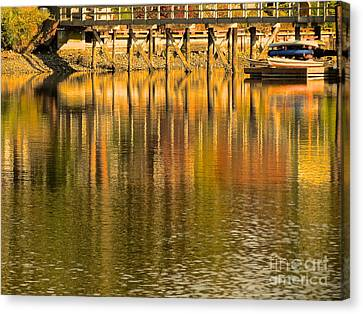 Under The Dock Canvas Print