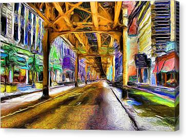 Under The El - 20 Canvas Print