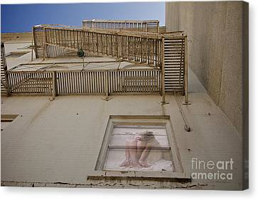 Under The Fire Escape Canvas Print