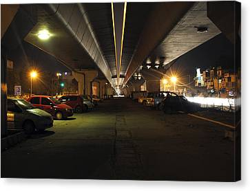 Under The Flyover  Canvas Print by Sumit Mehndiratta