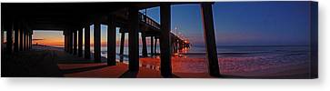 Under The Gulf State Pier  Canvas Print by Michael Thomas
