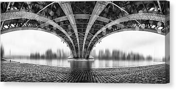 Under The Iron Bridge Canvas Print