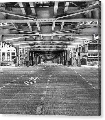 Chicago Wells Street Bridge Photo Canvas Print by Paul Velgos