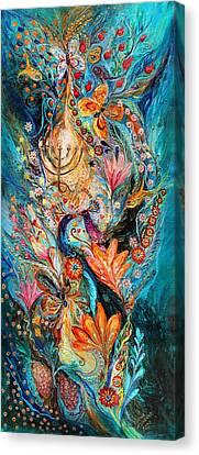 Under The Light Of Menorah Canvas Print by Elena Kotliarker