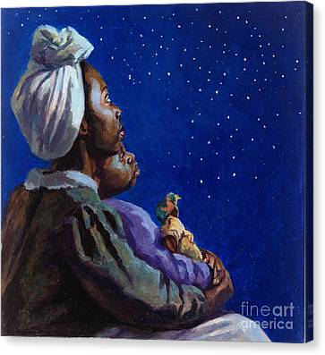 Under The Midnight Blues Canvas Print