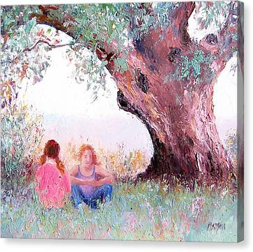 Under The Old Gum Canvas Print by Jan Matson
