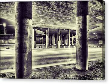 Under The Overpass Canvas Print by EXparte SE