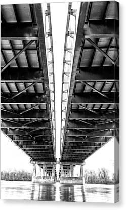 Under The Page Bridge Canvas Print by Bill Tiepelman