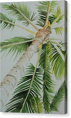 Under The Palm Canvas Print
