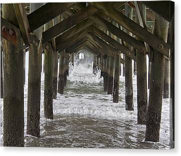 Under The Pawleys Island Pier Canvas Print