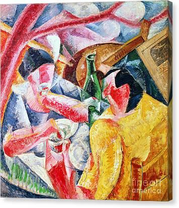 Boccioni Canvas Print - Under The Pergola At Naples by Umberto Boccioni