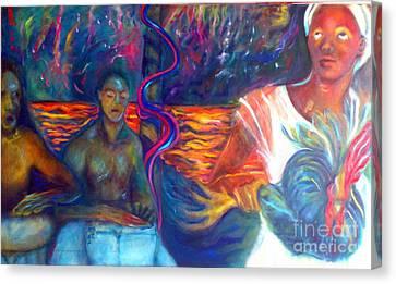Under The Peristyle Canvas Print by Jenny Goldman