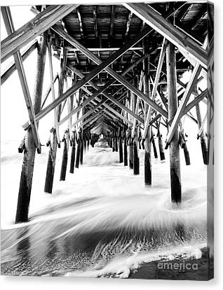 Under The Pier Folly Beach Canvas Print