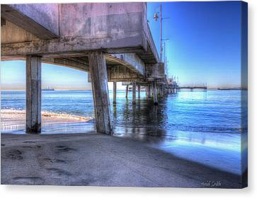 Under The Pier Canvas Print by Heidi Smith