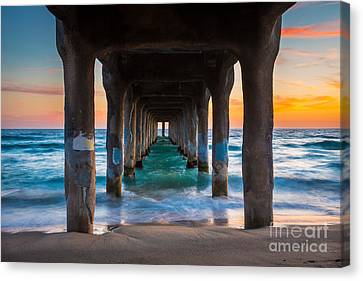 Under The Pier Canvas Print by Inge Johnsson