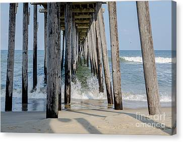 Under The Pier Canvas Print by Kay Pickens