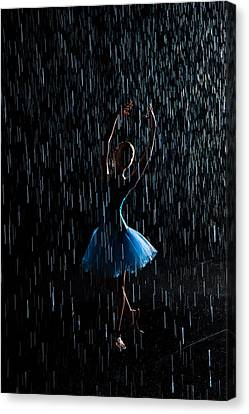 Under The Rain Canvas Print by Zina Zinchik