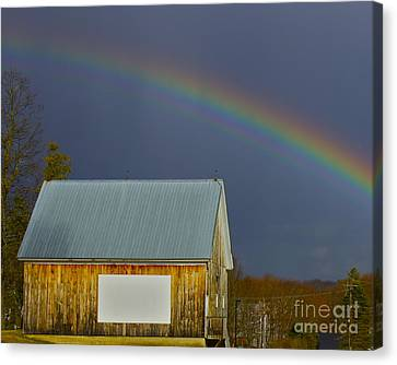 Canvas Print featuring the photograph Under The Rainbow by Alice Mainville