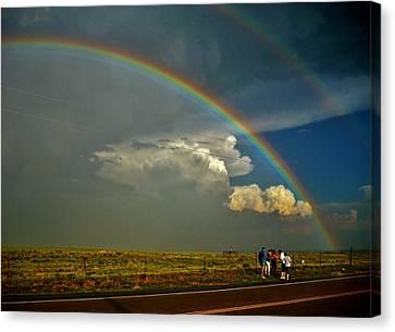 Under The Rainbow Canvas Print by Ed Sweeney