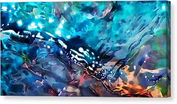 Under The Rocks Canvas Print by Terril Heilman
