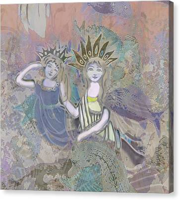 Angel Mermaids Ocean Canvas Print - Under The Sea by Amelia Carrie