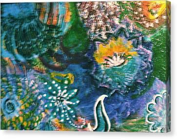 Under The Sea Blue Dreams Canvas Print by Anne-Elizabeth Whiteway