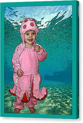 Under The Sea Canvas Print by Ellen Henneke