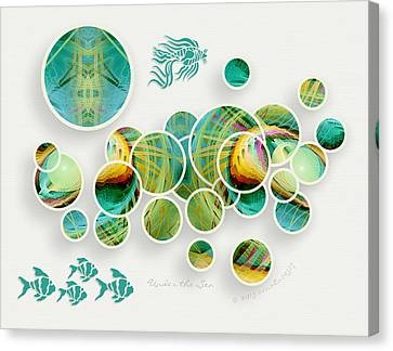 Under The Sea Canvas Print by Gayle Odsather
