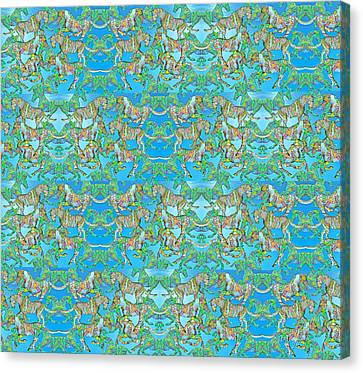 Under The Sea Horses Canvas Print by Betsy Knapp