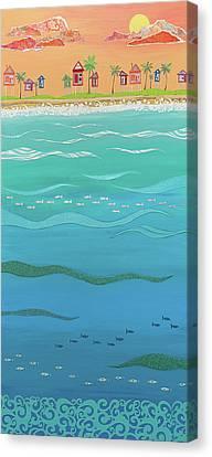 Under The Sea Canvas Print by Jennifer Peck